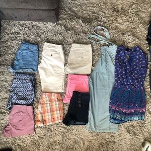 8 Shorts lot 2 rompers sanctuary express old navy